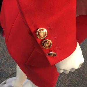 Escada Margretha Ley Red suit size euro 36